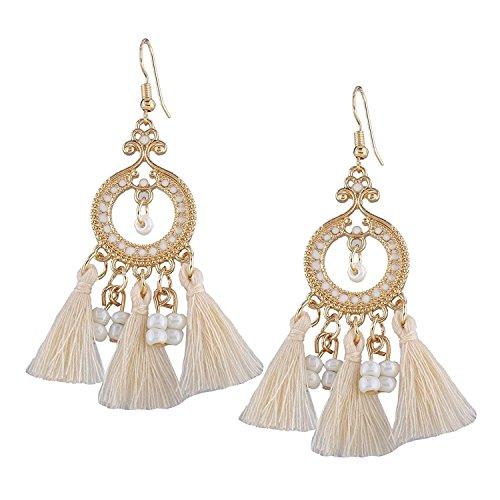 Shining Diva Fashion Stylish Bohemian Tassel Earrings for Women (9058er)