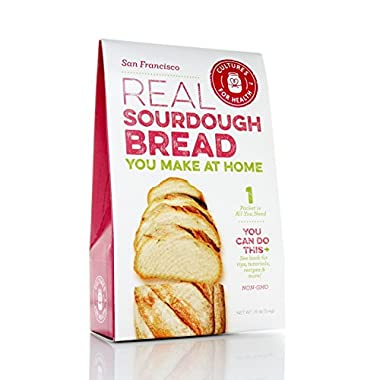 Cultures for Health San Francisco Sourdough Starter, Organic non-GMO, Natural Yeast, Makes Sourdough Bread, Pizza, Pancakes, Includes 2 Packs Of Starter