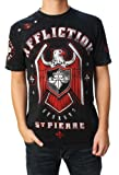 Affliction George St Pierre GSP Royal Guard UFC 167 Walk Out T-Shirt S Black