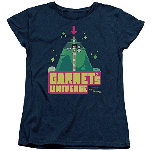 DressCode Steven Universe - Womens Garnets Universe T-Shirt, Size: Small, Color: Navy (Steven Universe San Diego Comic Con 2017)