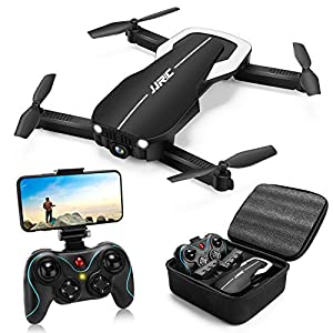 Drones with 1080P HD Camera for Beginners,JJRC H71 Foldable Drone with Optical Flow Positioning, FPV WiFi Live Video Quadcopter for Adults,22mins Long Flight Time Rc Drone with 2 Batteries(Black) 51ZJKDOGd3L