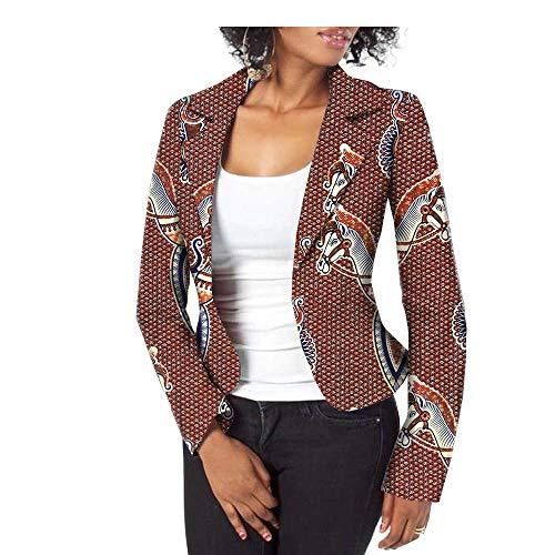 - African Jacket for Women Party Wear for Girls Women Wax Print Suit Coat Blazer 405 XXS