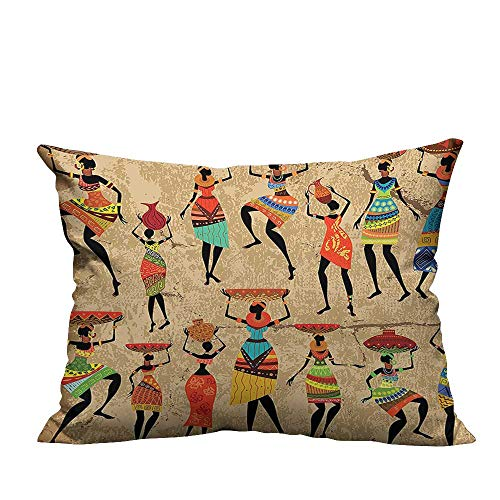 Bedsure Pillowcases Art History and Culture of Honor Ethnic Dresses Women Tribal Print for Bedroom Sofa Bed Home Decoration(Double-Sided Printing) 19.5x54 inch