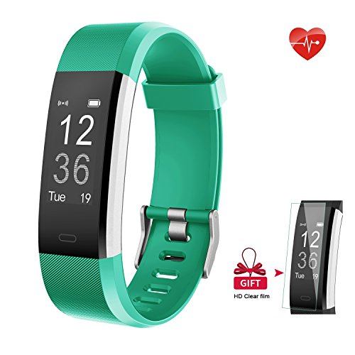 Fitness Tracker - AIEX Heart Rate Monitor Smart Watch With Connected GPS Tracker - 14 Sports Mode - Message Notification - Waterproof Activity Tracker for Android and iOS with Gift Screen Protector (Green)