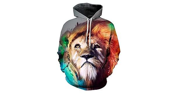 Suéter de impresión Digital Personalizada león 3D suéter con ...
