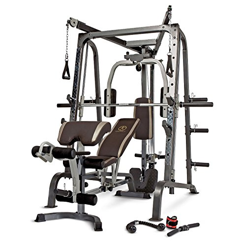 (Marcy Smith Cage Workout Machine Total Body Training Home Gym System with Linear Bearing MD-9010G)