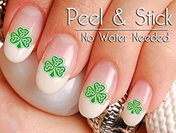 Amazon 40 St Patricks Day Celtic Shamrock Nail Art Decal