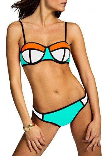 CASPAR Fashion - Conjunto - para mujer white-orange / mint