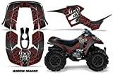 AMR Racing ATV Graphics kit Sticker Decal Compatible with Honda 90 TRX/EX Maier 1993-2005 - Widow Maker Red Black
