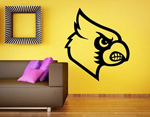 Amazon.com: Louisville Cardinals Logo Wall Decal Vinyl Sticker NCAA ...