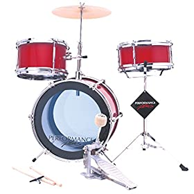 Performance Plus MD103MR Metallic Red Mini Starter Drum Kit - 3 Piece 11