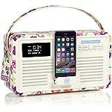 VQ Retro Mk II DAB & DAB+ Digital Radio with FM, Bluetooth, Apple Lightning Dock & Alarm Clock – Emma Bridgewater Wallflower
