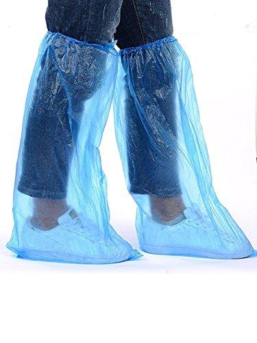 Pluie De Jetables Protection Bleu Paires Plastique Couvrent Adultes Couvre Pour Jowneel Chaussures 20 En Impermable Bottes La Chaussure Longue ApEfxPIwqn