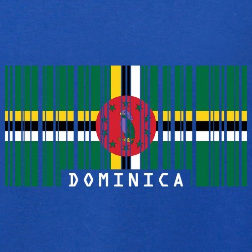 Dominica Barcode Flagge - Herren T-Shirt - Royalblau - M