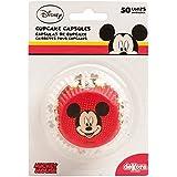 Mickey 339004 Confezione di 50 pirottini per realizzare cupcake, in carta, dimensioni: 5 x 5 x 3 cm, colore: Rosso