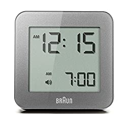 Braun BNC009GY Digital Quartz Alarm Clock