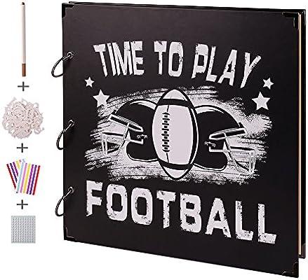 amazon com facraft football scrapbook album 12x12 with scrapbooking