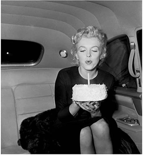 Fantastic Marilyn Monroe Happy Birthday Blowing Out Cake Candle In Car 8 X Funny Birthday Cards Online Alyptdamsfinfo