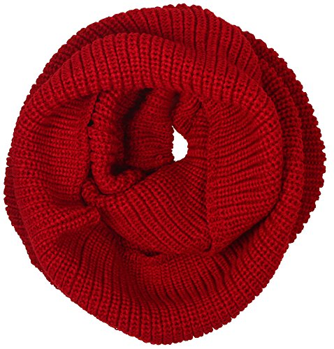 Simplicity Women's Winter Thick Chunky Knit Infinity Circle Ring Scarf, Burgundy