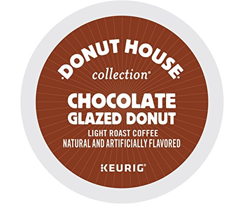 Donut House Collection Chocolate Glazed Donut Coffee, Keurig K-Cups, 72 Count Chocolate Doughnut
