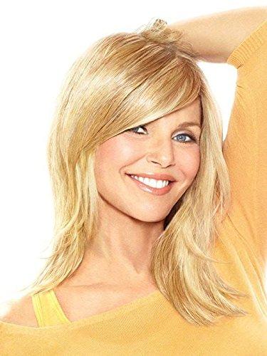 Hairdo Hair Piece Extension Christie Brinkley Full Sweeping Side Fringe, R14/88h, Golden Wheat/light Golden Blonde, 23 Count