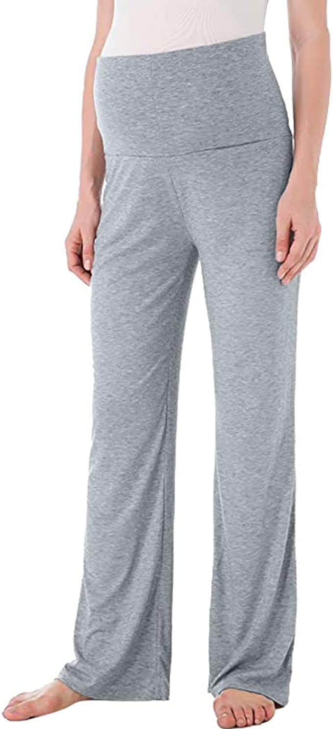 RISTHY Pantalones de Maternidad Mujer Pantalones Deportivos Yoga ...