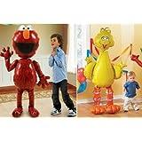 ELMO + BIG BIRD Sesame Street HUGE Air WALKER AIRWALKER Birthday Party Balloons