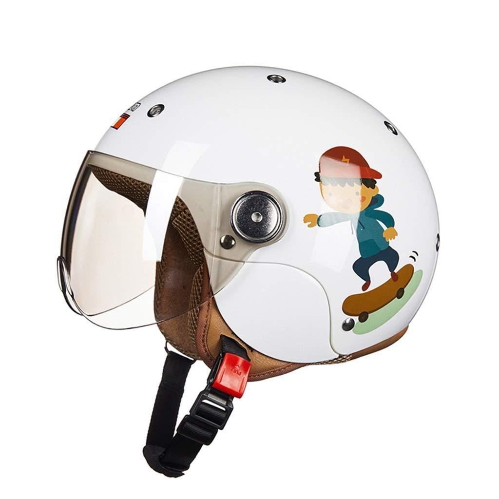子供のヘルメット四季一般オートバイ電気子供と女の子の安全帽子素敵な冬の温暖化 (Color : Boy)