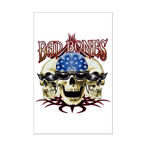 Mini Poster Print Bad Bones Skulls ()