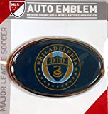 Philadelphia Union Raised Metal Domed Oval Color Chrome Auto Emblem Decal MLS Soccer Football Club