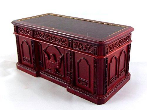 Dollhouse Miniature 1:12 Scale Mahogany Resolute Desk #P3339 by Aztec Imports, Inc.