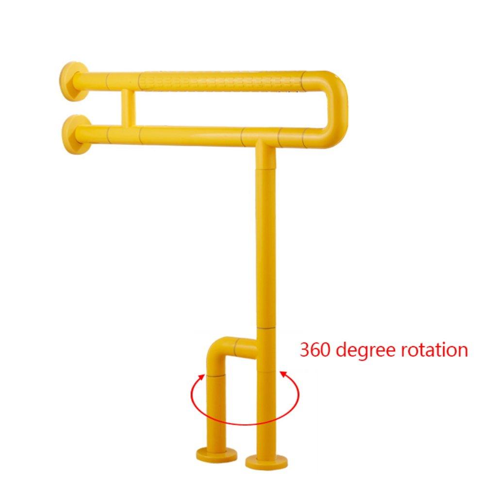 Sicherheitshandlauf Anti-Rutsch-Handlauf aus Edelstahl für Senioren Behindertengerechter Nylongriff für Behinderte Badewannentoilette Sicherheitshandlauf (Farbe : Gelb, größe : 6070cm)