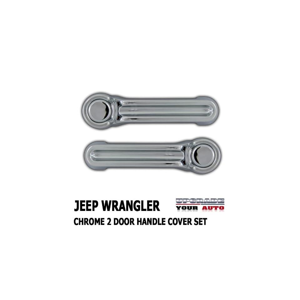 2007 2013 Jeep Wrangler 2 door Chrome Handle Cover Set