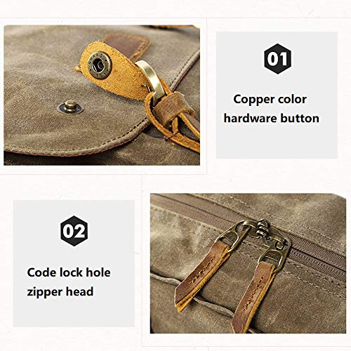 Vintage Photography Backpack Hot Premium Multi-Functional Military Style Canvas Backpack Rucksack,Waterproof Photography Canvas Bag for Camera, Lens and Accessories (Army Green) by Outsta (Image #6)