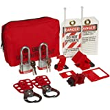 Brady Breaker Lockout Sampler Pouch Kit, Includes 2 Steel Padlocks