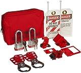 Brady Breaker Lockout Sampler Pouch Kit, Includes 2 Steel Padlocks