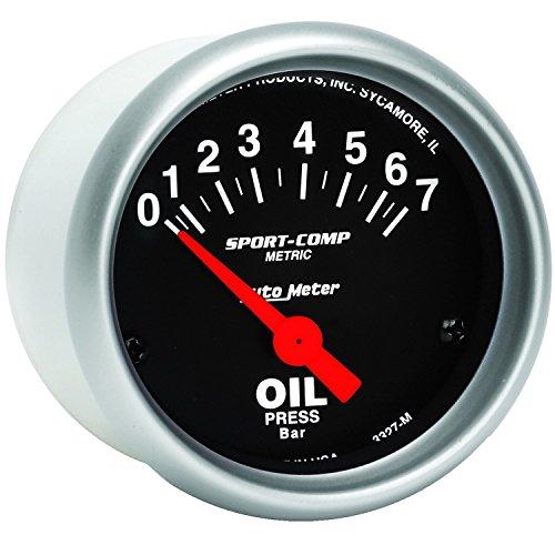 Auto Meter 3327-M Sport-Comp Electric Metric Oil Pressure ()