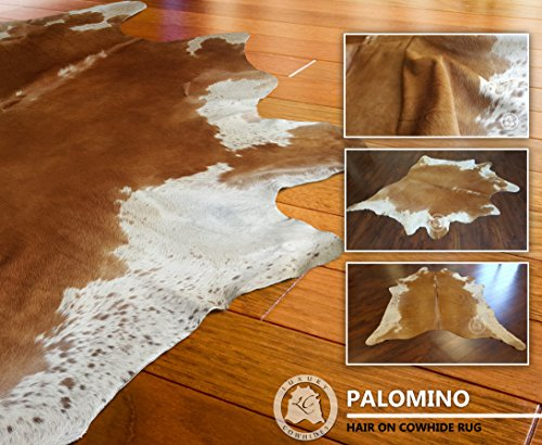 ALFOMBRA DE PIEL DE VACA �?Modelo Palomino PE2 �?Tamaño: 210 x 180 cm �?Calidad Premium �?100% Natural �?Color Beige y Blanco �?Marca PIELES DEL SOL