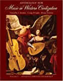 img - for Anthology for Music in Western Civilization, Vol. 1: Antiquity Through the Baroque book / textbook / text book