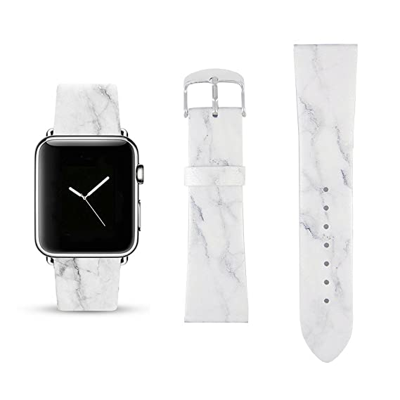 e7e93404c Image Unavailable. Image not available for. Color: White Marble Replacement  Band ...