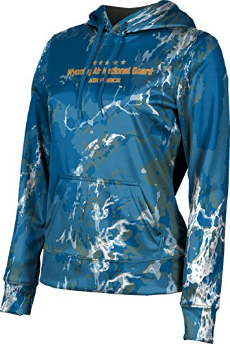 Girls' Wyoming Air National Guard Military Marble Hoodie Sweatshirt (Apparel)