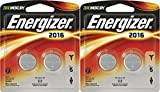 Energizer 2016 3V Lithium Button Cell Battery Original Retail Pack, 2x2 Packs Total of 4 Batteries