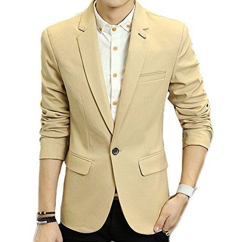 Zhuhaitf 1608# Mens Slim Fit Cotton Jackets Suit Outerwear Fashion Casual Buttons Blazer Coats