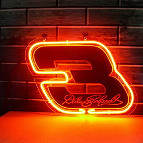 (Urby® Coors Nascar #3 Dale Earnhardt Real Glass Neon Light Sign Home Beer Bar Pub Windows Garage Wall Sign 17''x14'' Z6)