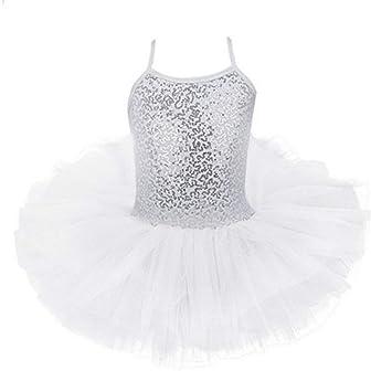 Rowentauk Niños Niñas Leotardo Vestido Falda de tutú de Ballet con ...