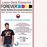 T- Shirts Heat Transfer Paper Laser printer FOREVER Laser-Dark Economy (11'' x 17'', Platinum (100 Sheets))