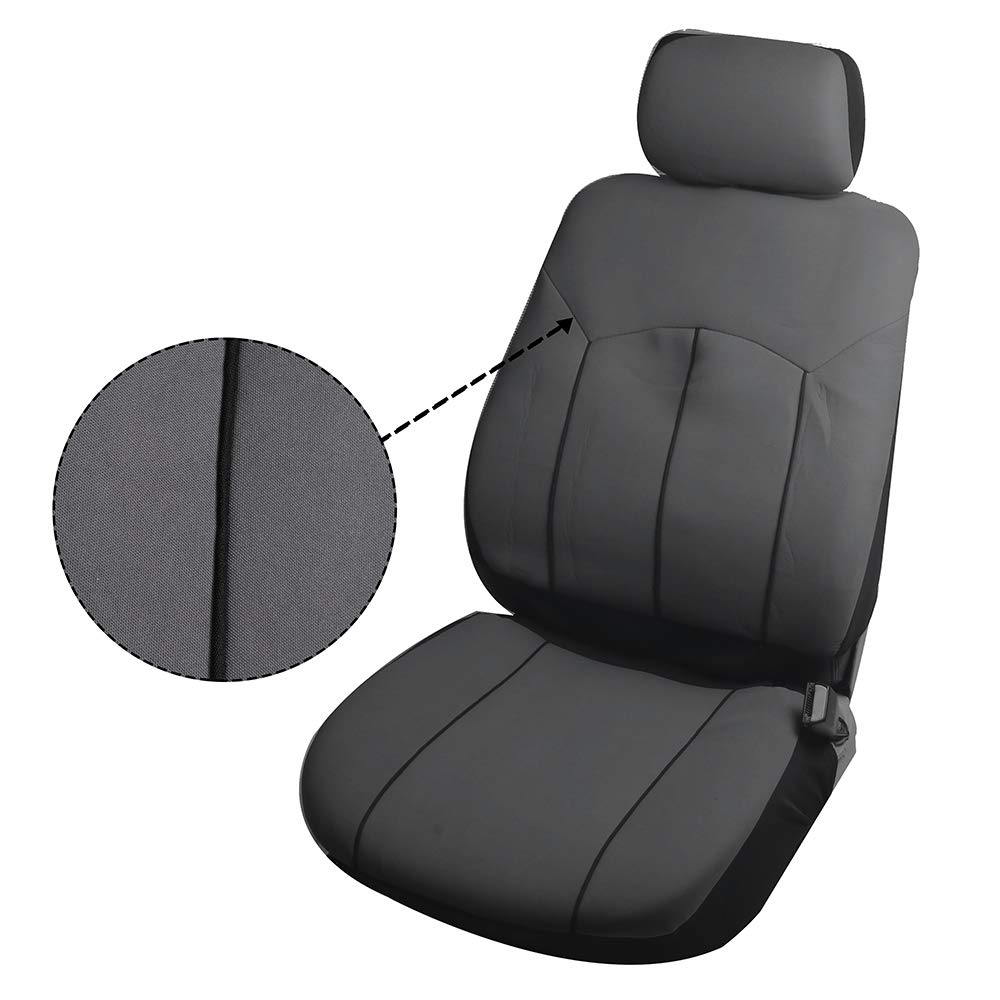 SCITOO Universal Black Car Seat Cover w//Headrest//Steering Wheel Cover//Shoulder Pads 12PCS Breathable Polyester//Mesh Retractable Auto Seat Cover Replacement for Most Cars