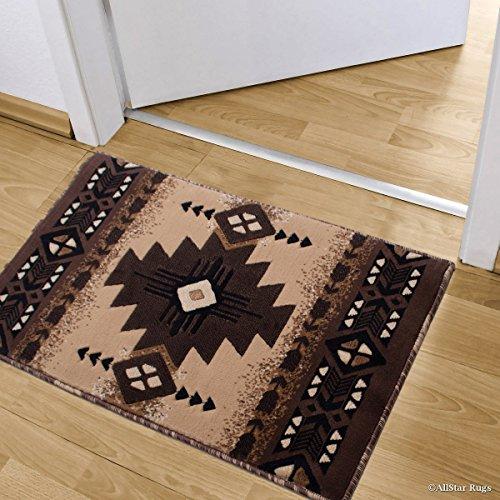 3' Drop Shot - Allstar Berber Doormat Accent Rug Woven High Density Double Shot Drop-Stitch Carving (2' 0