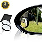 """Drive Safe Blind Spot Mirrors HD 2"""" Fixed Round Glass Blind Spot Mirror 2-Pack 
