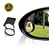 "Drive Safe Blind Spot Mirrors HD 2"" Fixed Round Glass Blind Spot Mirror 2-Pack 